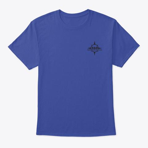 360 Merch Deep Royal T-Shirt Front