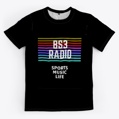 Bs3 Radio (All Colors) Black T-Shirt Front