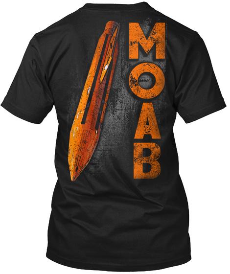 Moab Black T-Shirt Back