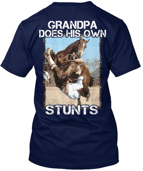 Stunt Western Grandpa Shirt Navy T-Shirt Back