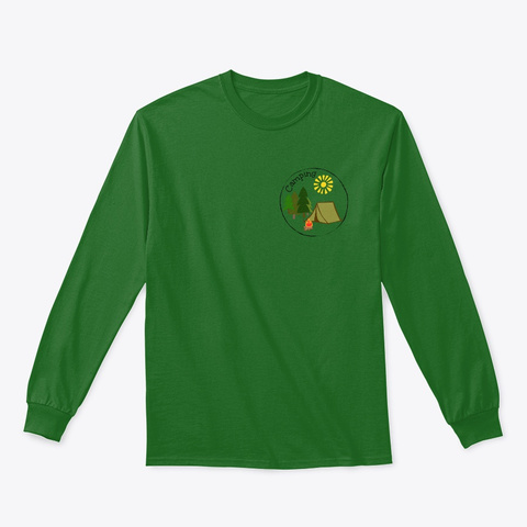 Camping Fun! Irish Green T-Shirt Front