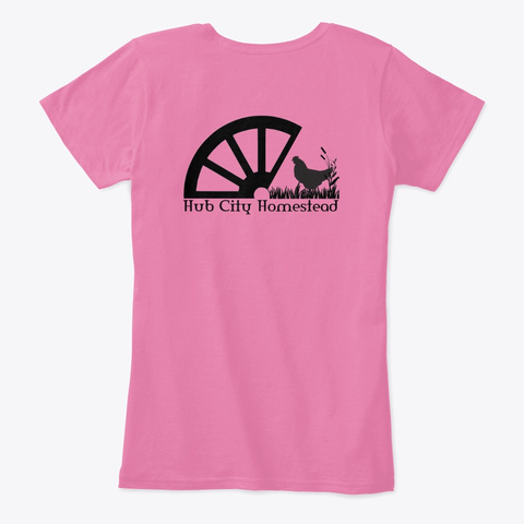 Floof Cochin By Samie True Pink T-Shirt Back