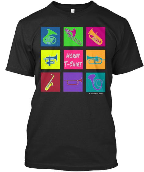 Horny T Shirt Alexander & Kent  Black T-Shirt Front
