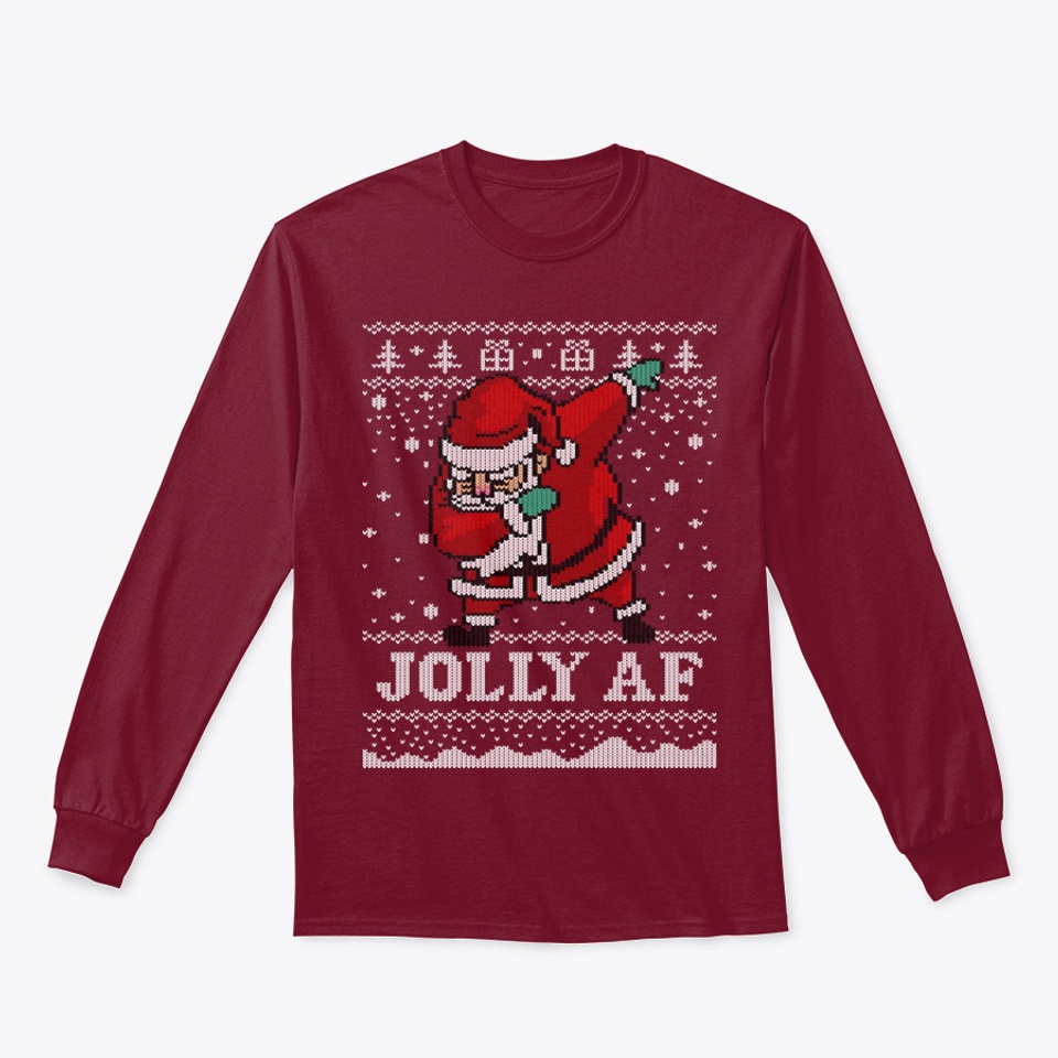 Ugly Christmas Sweater Dabbing Santa