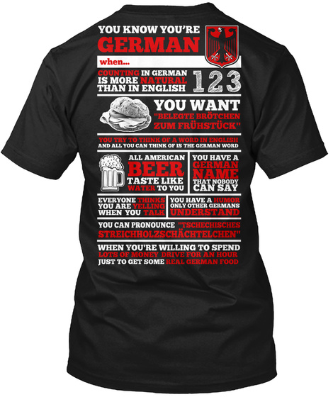 German 123 You Want Beer German Name Black T-Shirt Back