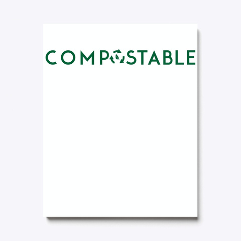 Compostable Environmentally Friendly Standard T-Shirt Front