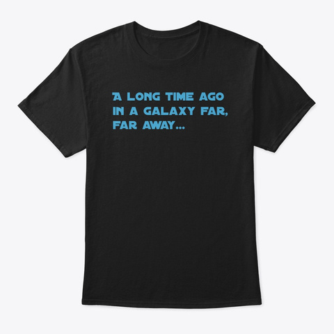 Far Away Black T-Shirt Front