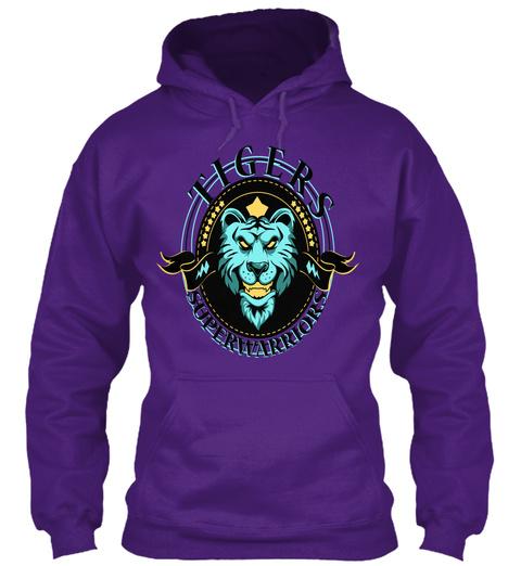 Tigers Superwarriors Purple T-Shirt Front