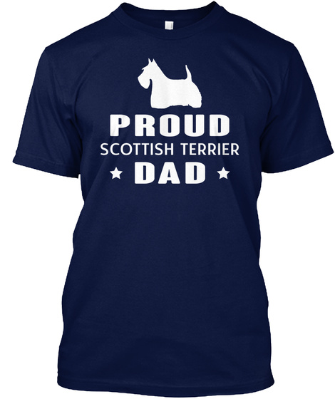 Scottish Terrier Navy T-Shirt Front