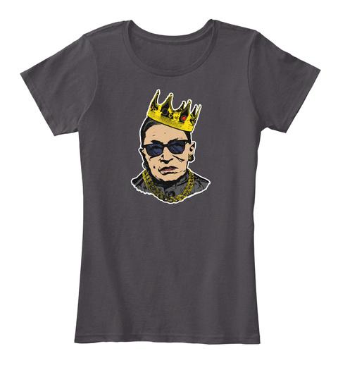 Notorious Rbg Ruth Bader Ginsburg Shirt Heathered Charcoal  T-Shirt Front
