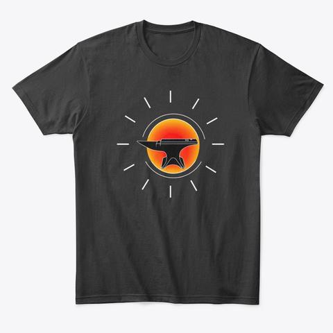 Blacksmith's Anvil Black T-Shirt Front