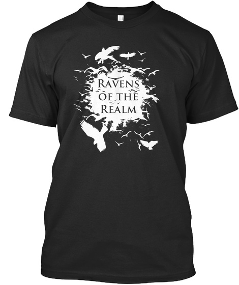 Ravens Of The Realm Black T-Shirt Front