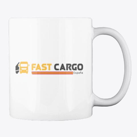 Fast Cargo Esp   Mug [White] White T-Shirt Back