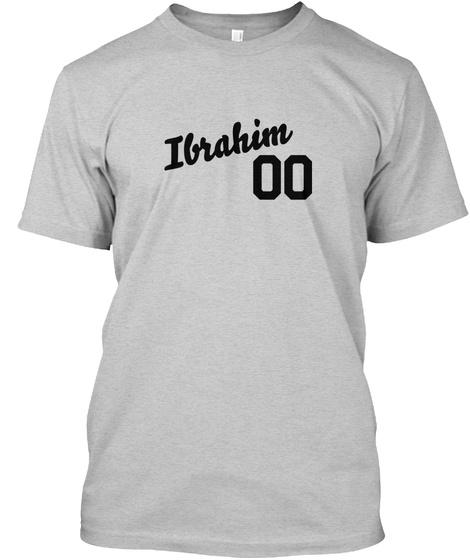 Ibrahim Varsity Legend Light Steel T-Shirt Front