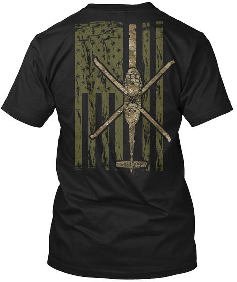 Special Edition Multicam Uh 60 Version!  Black T-Shirt Back
