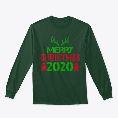Merry Christmas 2020 T Shirt Forest Green T-Shirt Front