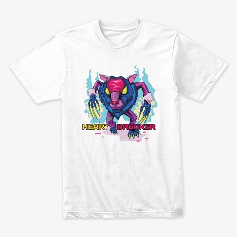 Heart Breaker White T-Shirt Front