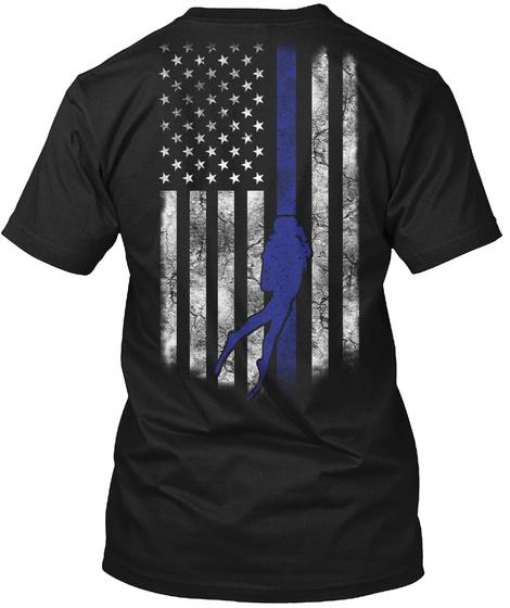 Scuba Diving Shirt Black T-Shirt Back