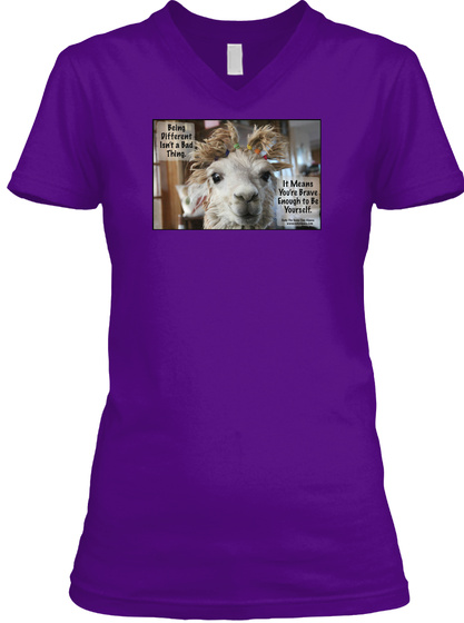 Being Different Isn't A Bad Thing It Means You're Brave Enough To Be Yourself Team Purple  T-Shirt Front