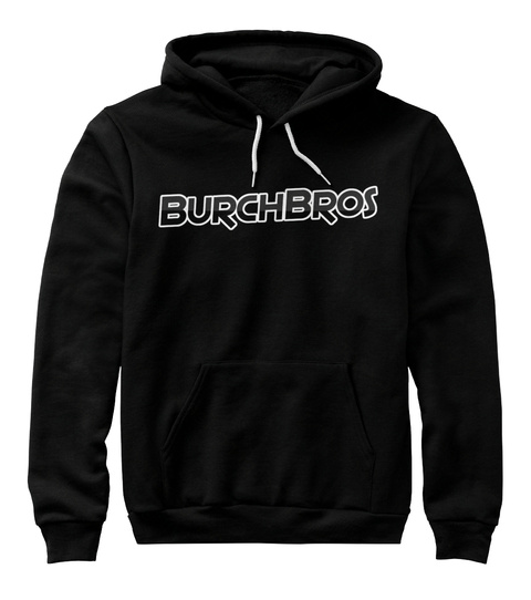Burch Bros Premium Hoodie Black T-Shirt Front