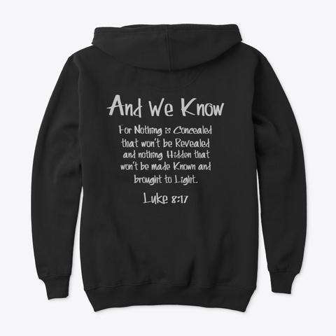 """Cue"" The World Is Awake  Black T-Shirt Back"