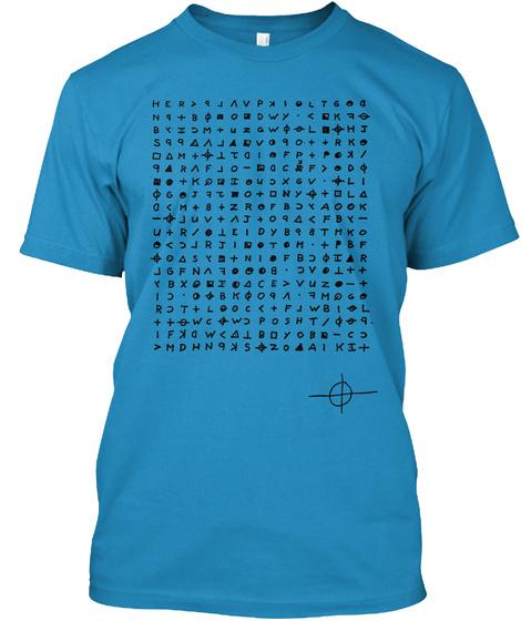 Zodiac Message Killer Shirt Sapphire T-Shirt Front