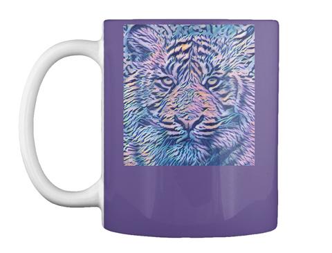Colorful Tiger Mug Purple T-Shirt Front