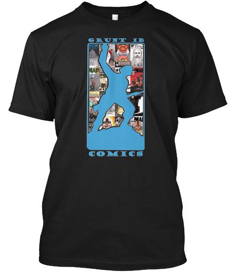 Grunt Ib Comics Black T-Shirt Front