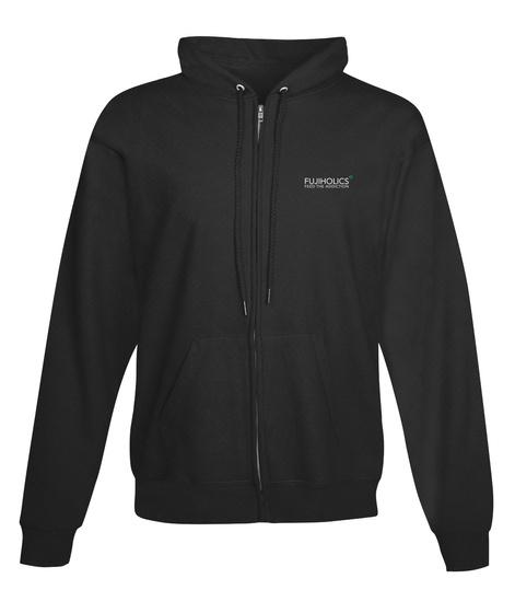 Black Fujiholics Hoodie Jet Black Sweatshirt Front