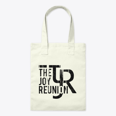 "Tjr ""Worn"" Tote Bag Natural T-Shirt Front"