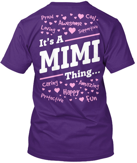 Its A Mimi Thing... Purple T-Shirt Back