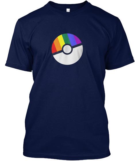 Pride Ball Lgbt  Shirt Navy T-Shirt Front
