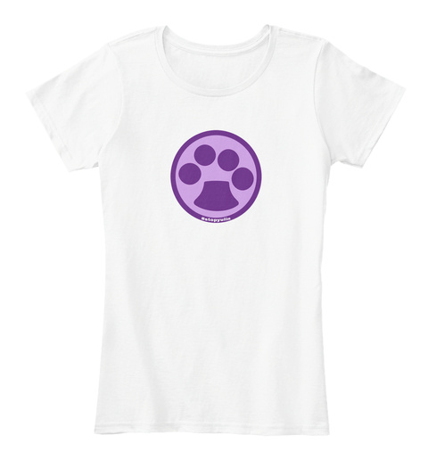 #Stop Yulin White Women's T-Shirt Front