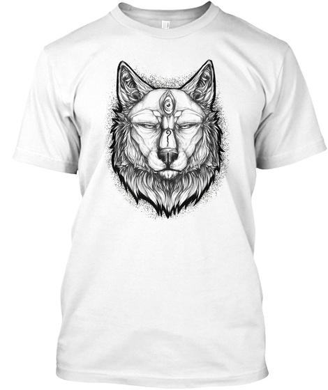 Third Eye Wolf White T-Shirt Front