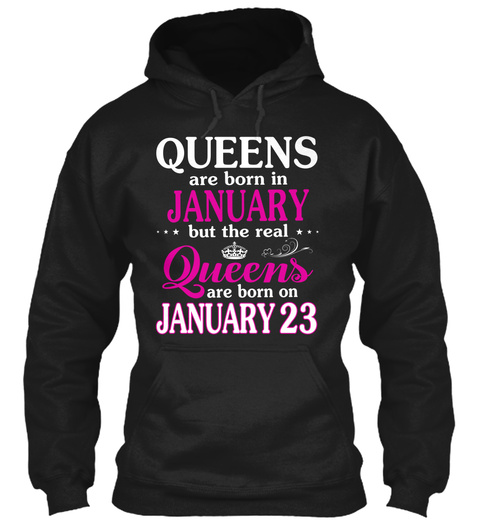January 23  Women   Best Gift 2020 Black T-Shirt Front