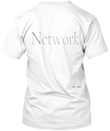 Network White T-Shirt Back