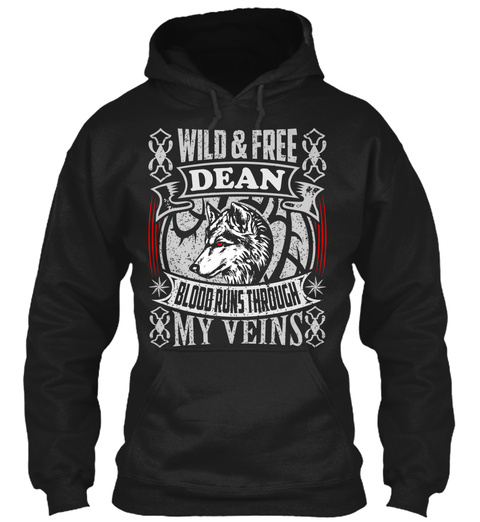 Dean   Wild   Free Black T-Shirt Front