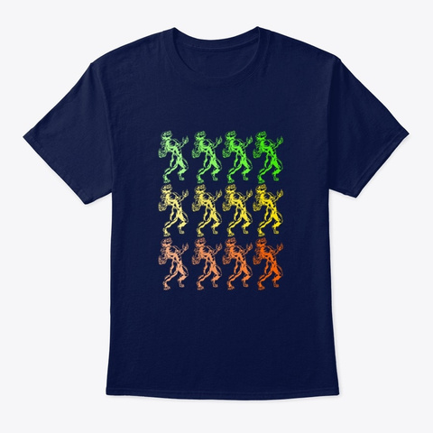 Wolfman Vintage Halloween Design Navy T-Shirt Front