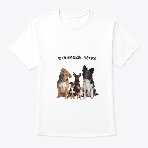 Dogscare Usa White T-Shirt Front