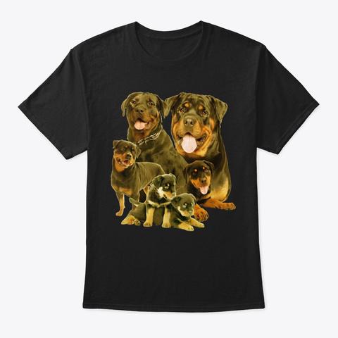 Rottweiler Five Black T-Shirt Front
