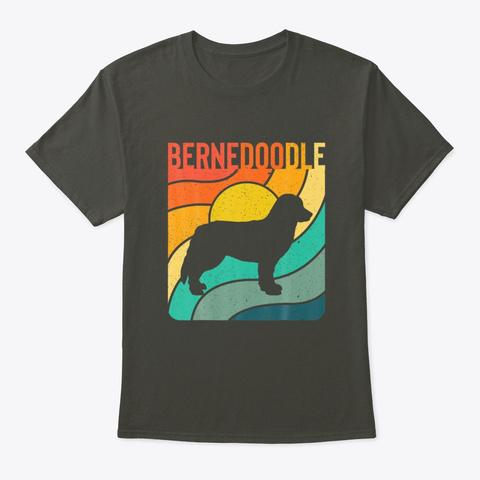 Bernedoodle Vintage Retro Dog Lover Smoke Gray T-Shirt Front