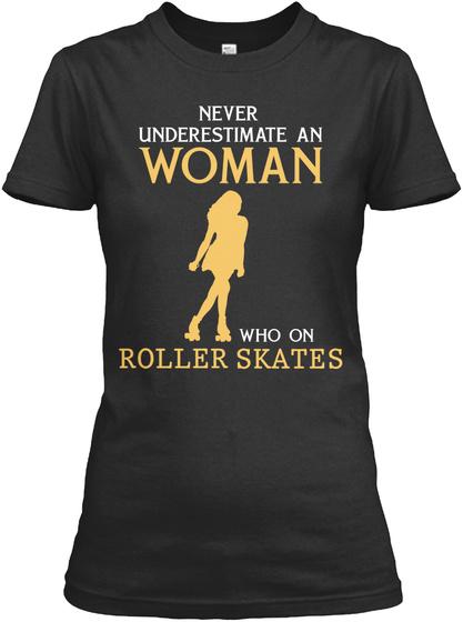 Roller Skating Limited Edition Black T-Shirt Front
