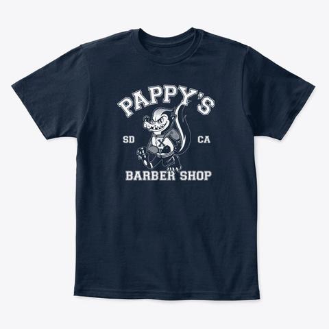 Pappy's Skunk Design New Navy T-Shirt Front