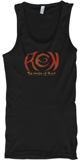 The House Of R.E.N Black T-Shirt Front
