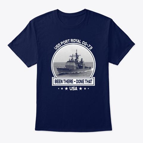 Uss Port Royal Cg 73 Navy T-Shirt Front