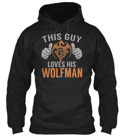 Wolfman   Guy Name Shirts Black T-Shirt Front
