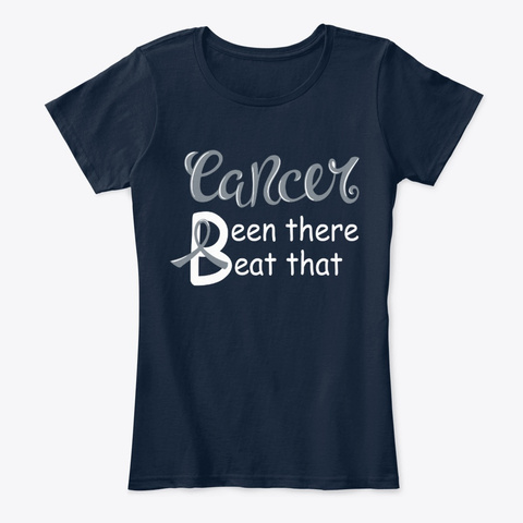 Beat Brain Cancer T Shirts New Navy T-Shirt Front