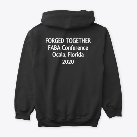 Faba Conference 2020 Hoodie White Logo Black T-Shirt Back