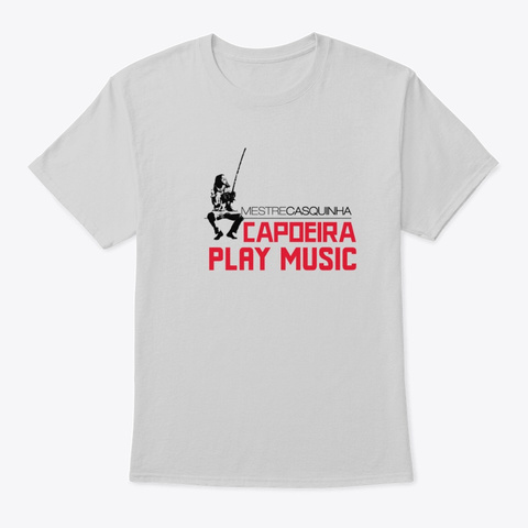 Mestre Casquinha Play Music Light Steel T-Shirt Front