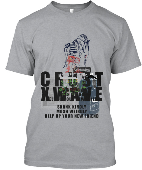 Crustwave Ska Tee Heather Grey T-Shirt Front